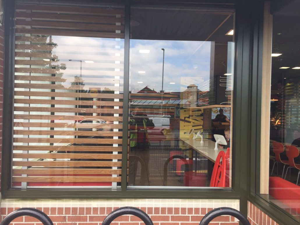 Commercial store front respray Chadderton North West