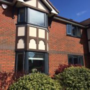 UPVC Spraying to home in Manchester windows and doors