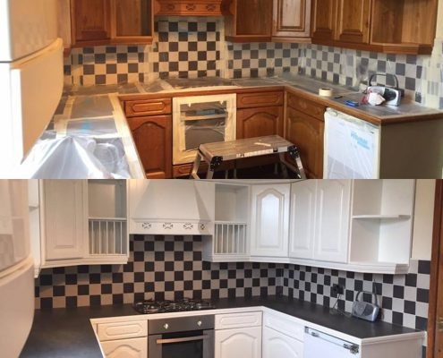 Kitchen cabinet respray Mossley