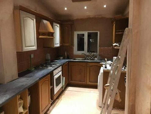 kitchen makeover with respray for doors