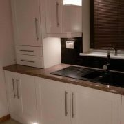 Jen's lucky free kitchen respray to doors and cabinets