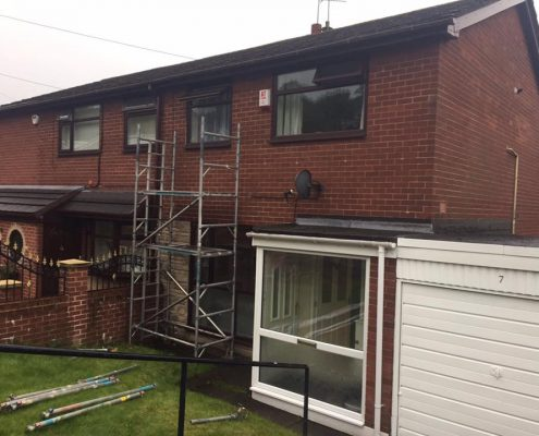 window frame spraying Oldham