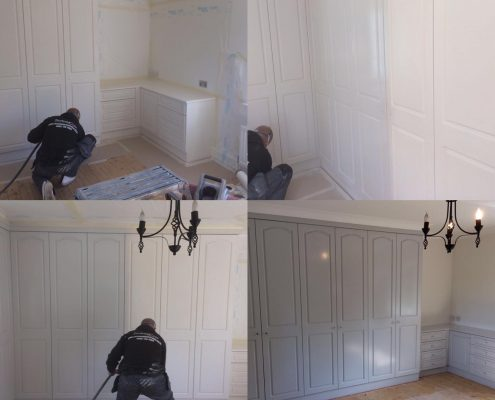 fitted wardrobe resprayed onsite
