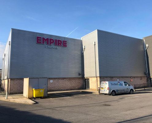 cladding respary to Empire cinema Wigan