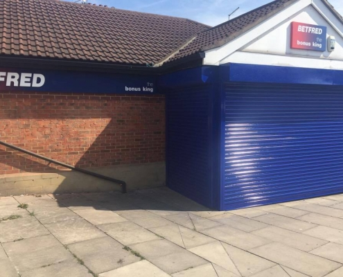 betfred resprayed roller shutters